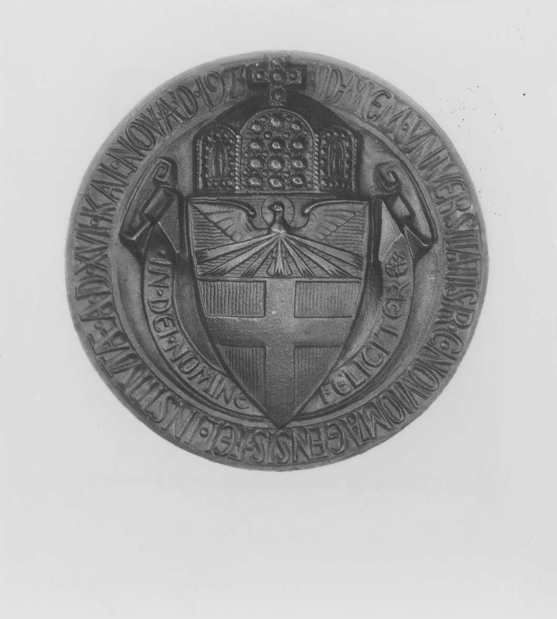 Gedenkpenning bij gelegenheid van de oprichting van de R.K.Universiteit 1923
