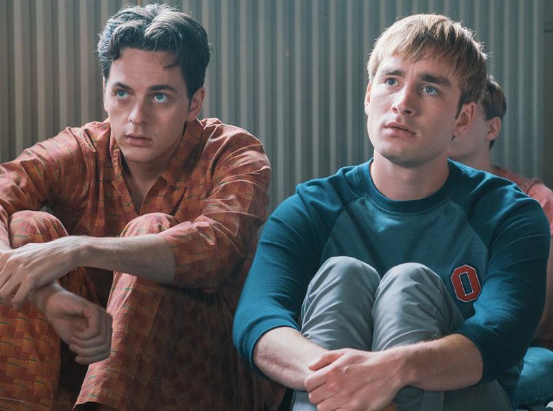 Mannen in pyjama
