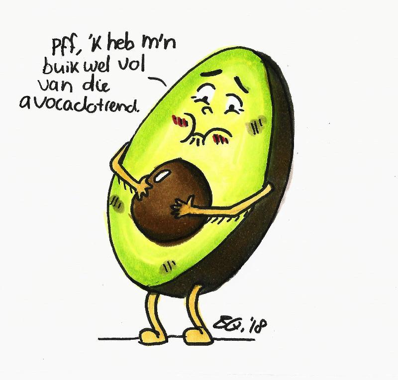 Eettrends Illustratie avocado groot
